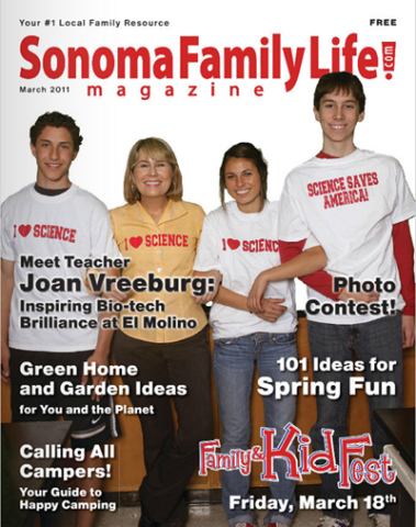 March 2011 Sonoma Family Life cover.