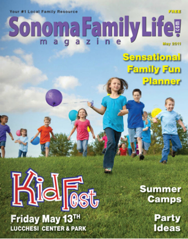 May 2011, Sonoma Family Life cover.