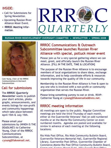 2008 RROC email newsletter