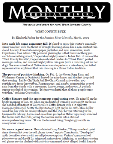 Russian River Monthly - West County Buzz - March 2011