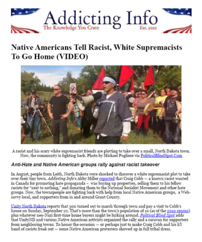 Addicting Info: Native Americans Tell Racist, White Supremacists To Go Home (VIDEO)