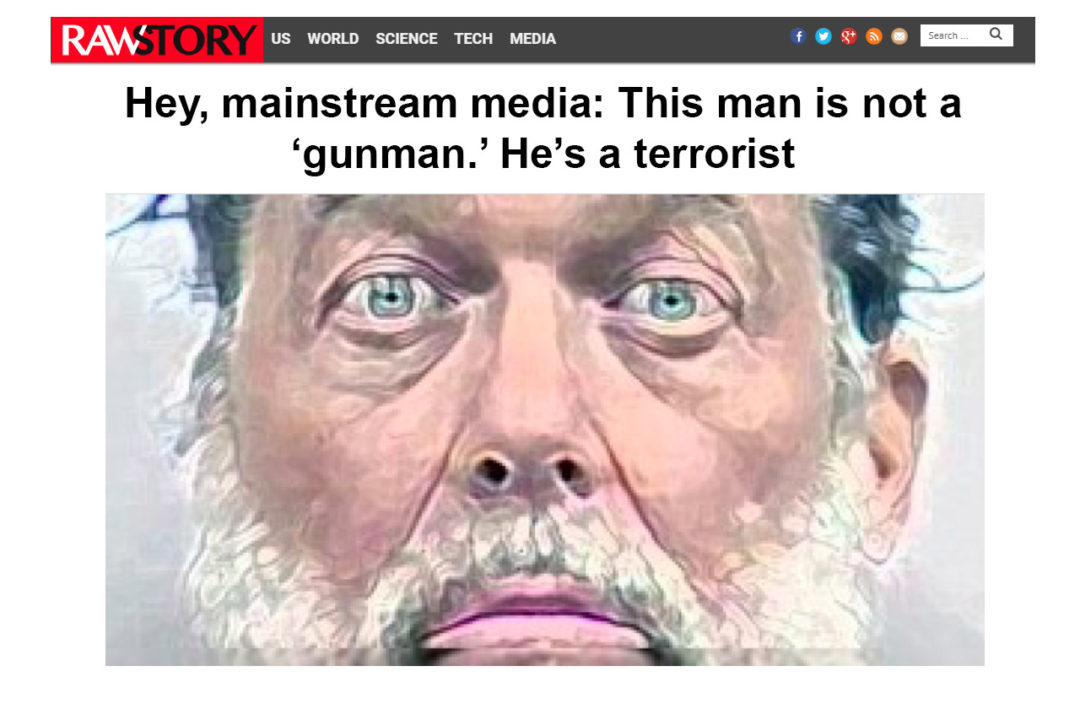 Screen shot - Elisabeth Parker's portfolio - writing Sample - This man's not a 'gunman,' he's a terrorist.