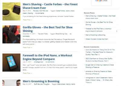 Groovy Man Stuff website