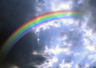 "Visual Design - Photo of rainbow in clouds for ""Personal Growth"" article for ""ThriveAfter50.Com."""