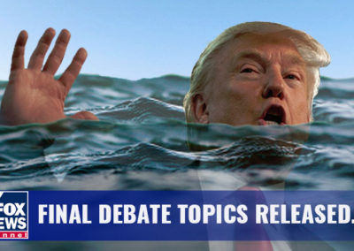 Trump underwater for article on Debate Topics released during 2017 election for BipartisanReport.COm.