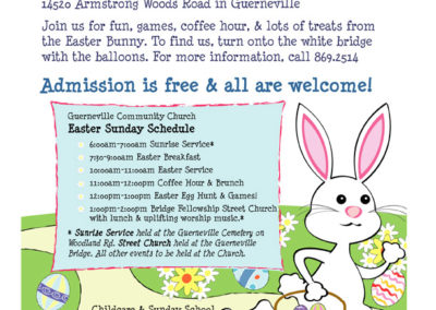 Easter Egg Hunt flier - Guerneville Community Church.