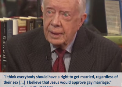 "Meme for Lucid Nation with Jimmy Carter. ""I think everyone should have a right to get married, regardless of their sex [...] I believe that Jesus would approve gay marriage."""