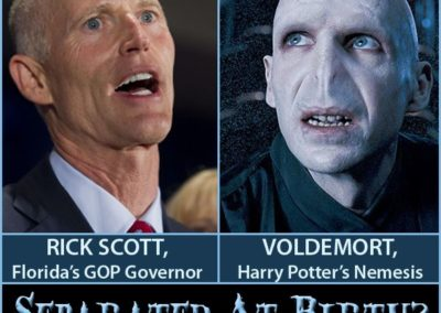 Separated at birth? Rick Scott and Voldemort.