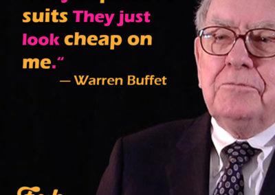 Fabweb meme - Warren Buffet and cheap suits.