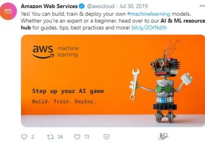 AWS - Artificial Intelligence and Machine Language resource hub.