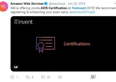 AWS Reinvent - AWS Certification post
