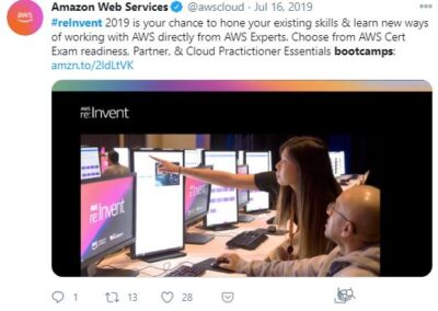 AWS Reinvent - Bootcamps post