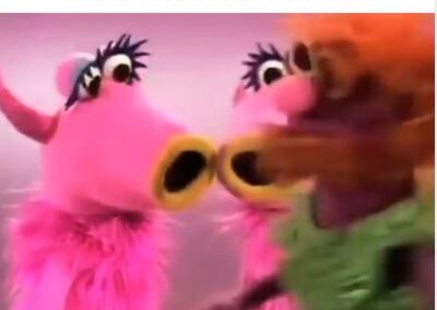 "Facebook post with video showing muppets singing the ""Mahna Mahna"" song. ""Tag a friend to get this song stuck in their heads."""