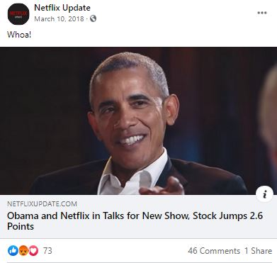 Preview for article: Obama and Netflix in Talks for New Show, Stock Jumps 2.6 Points