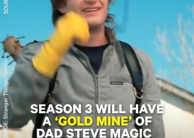 "Facebook post with ""Stranger Things"" video featuring Steve."